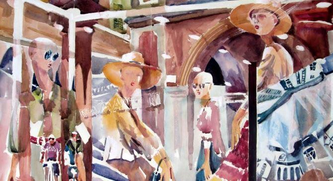 Una delle opere in esposizione ad Acri