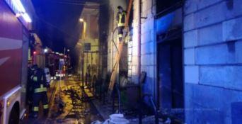 Incendio pizzeria a Reggio