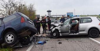 Un incidente sulla statale 18