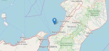 La cartina che mostra il punto in cui è avvenuto il terremoto