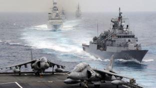Le navi durante l'esercitazione