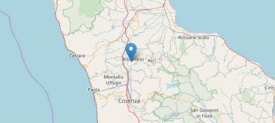 Scossa di terremoto di magnitudo 3.4 nel Cosentino