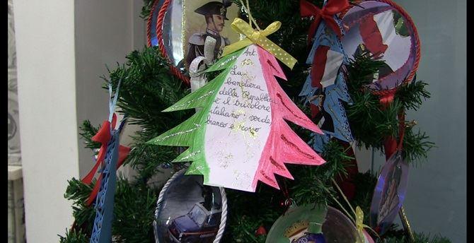 L'albero di Natale realizzato dagli alunni della scuola Don Bosco di Vibo