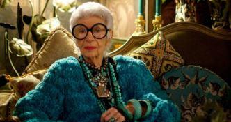 Iris Apfel, imprenditrice e interior designer di fama mondiale nata nel 1920