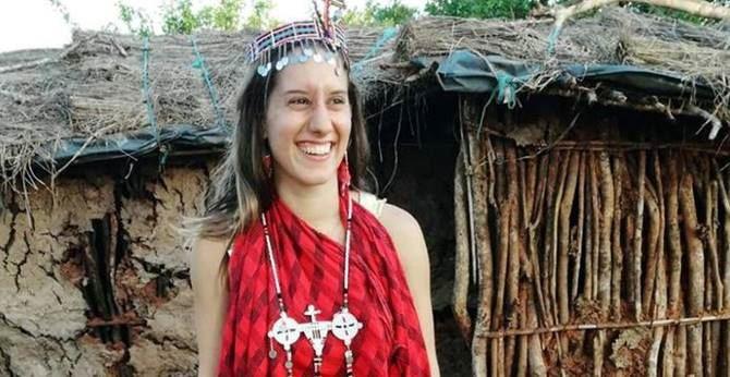 La giovane volontaria Silvia Romano