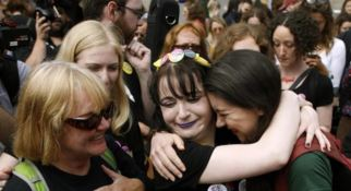Attiviste irlandesi. FOTO ANSA