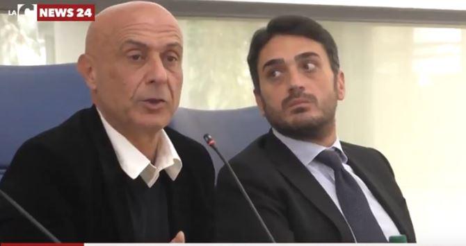 Marco Minniti e Nicola Irto