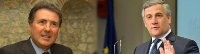 Forza Italia, Tajani rassicura Aiello: «Sulla presidenza della Regione nessuna decisione»
