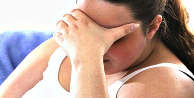 Una donna affetta da depressione