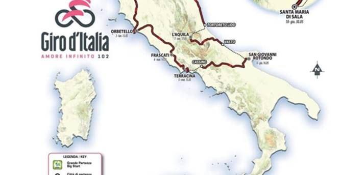 Le tappe del Giro d'Italia 2019