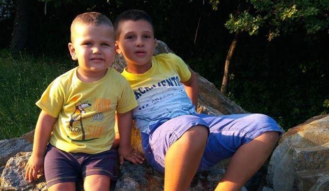 Nicolò, 2 anni e Christian, 7 anni