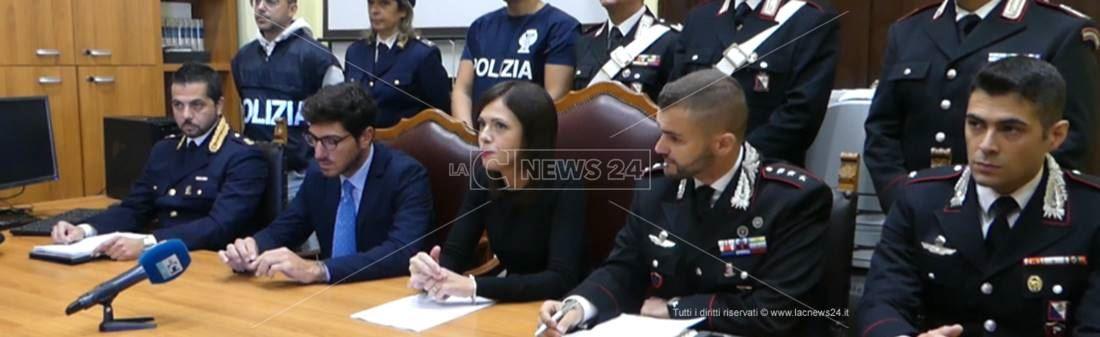 La conferenza stampa per illustrare i dettagli dell'omicidio Ripepi