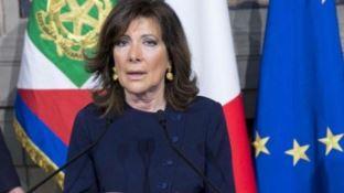 Il presidente del Senato Maria Elisabetta Casellati domani in Calabria