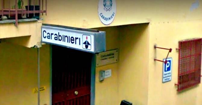 La stazione dei carabinieri di Spezzano