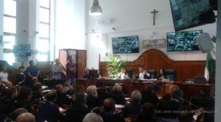 L'aula del tribunale di Locri dove è in corso il processo