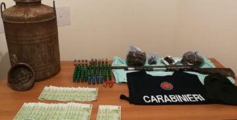 Sequestrate armi, munizioni e droga nel Reggino