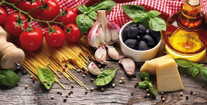 Tipici alimenti della dieta mediterranea