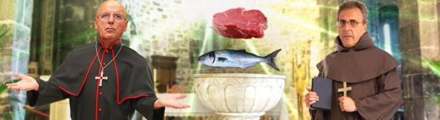 Adamo e Oliverio, come i monaci del Medioevo provano a trasformare la carne in pesce