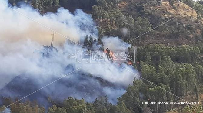 Incendio a Copanello