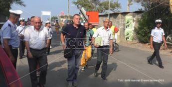 Il sindaco Ugo Vetere pochi istanti prima di entrare nella struttura