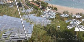 I pannelli solari del nuovo impianto realizzato all'ospedale di Cetraro