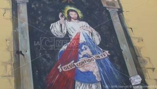 Murales d'arte sacra nel quartiere Gagliano, un nuovo turismo religioso