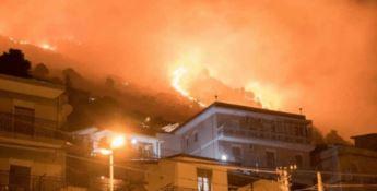 Pompieri dalla Calabria per spegnere le colline di Palermo in fiamme