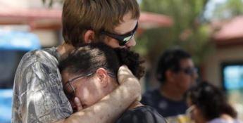Due persone sul luogo della sparatoria