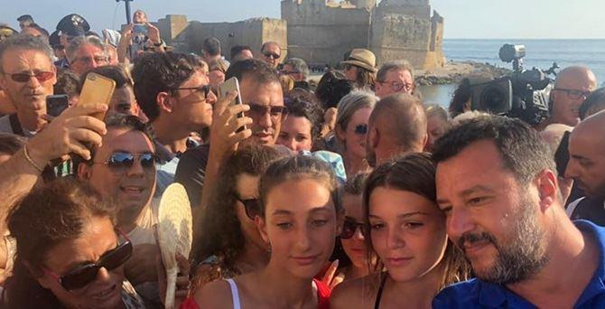 Salvini a Le Castella