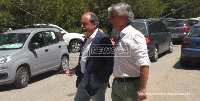 Il direttore generale Antonio Belcastro e il consigliere regionale Giuseppe Aieta