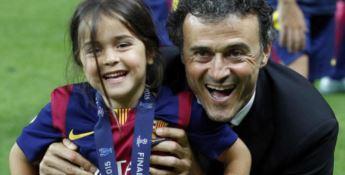 Luis Enrique con la figlia Xana