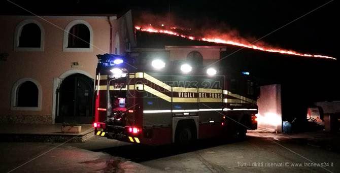 L'incendio a Catanzaro