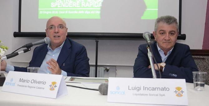 Mario Oliverio e Luigi Incarnato (immagine di repertorio)