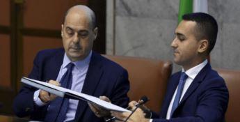 Il segretario Zingaretti e il ministro Di Maio