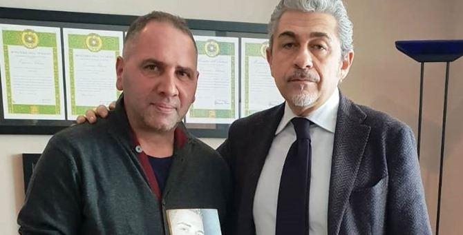 Martino Ceravolo e il questore Andrea Grassi