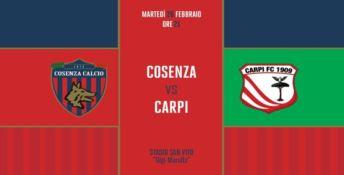 SERIE B | Il Carpi in Calabria pronto a sfidare il Cosenza
