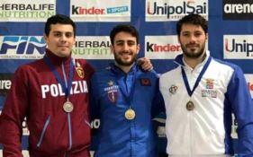 """TUFFI   Tocci si conferma il più forte e la """"Cosenza Nuoto"""" trionfa alla Coppa Tokyo"""