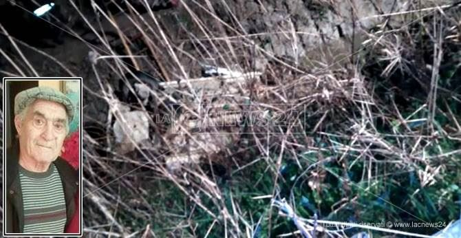 L'anziano ritrovato senza vita e il luogo dell'incidente