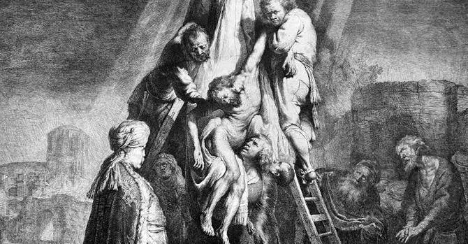 Una delle opere di Rembrandt