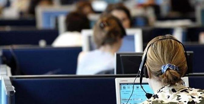 Lavoratori in un call center