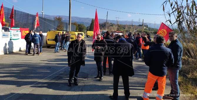 I lavoratori in sciopero