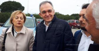 Il presidente della Regione Toscana Rossi a San Ferdinando