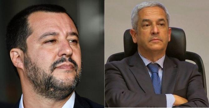 Matteo Salvini e Marcello Manna