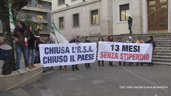 La protesta dei lavoratori