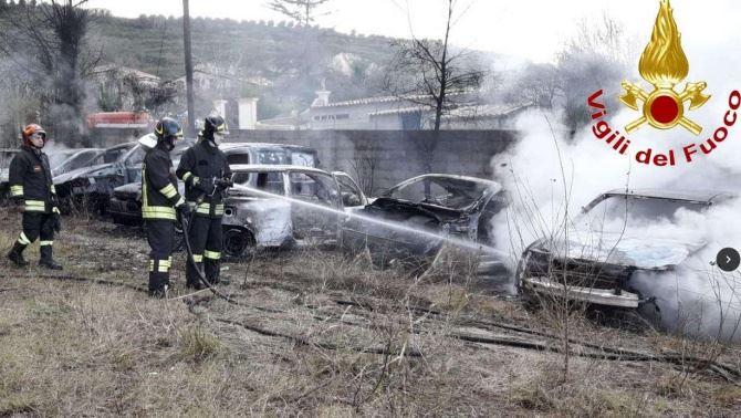 L'incendio a Parghelia