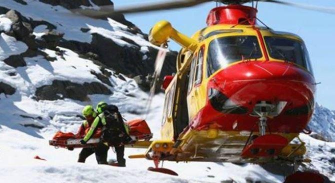 Un elicottero di soccorso