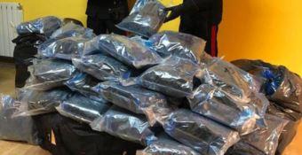 I sacchi contenenti la marijuana