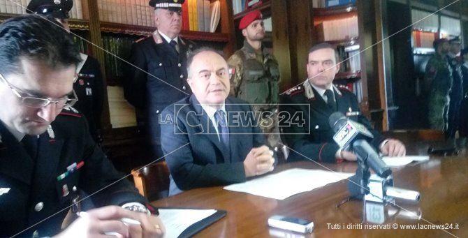La conferenza stampa dell'operazione Reventinum
