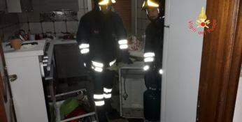L'abitazione danneggiata dall'esplosione