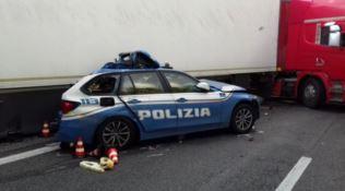 Incidente sull'A18, foto Polizia di Stato